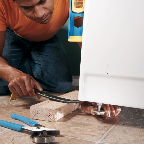 how to fix self adjusting legs on a maytag washer