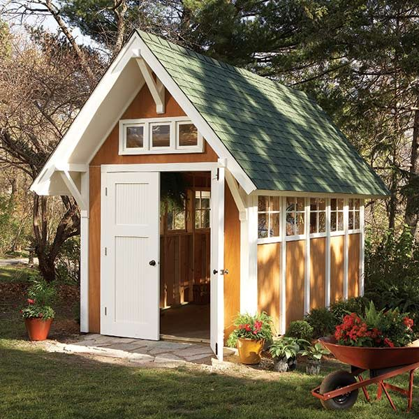 Garden shed illustrations and materials list the family for Shed materials list