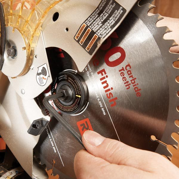 Retrofit a miter saw with a laser the family handyman retrofit a miter saw with a laser keyboard keysfo Image collections