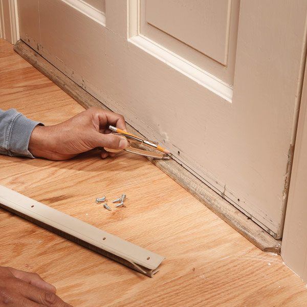 Replace your weather strip the family handyman for Door weather stripping