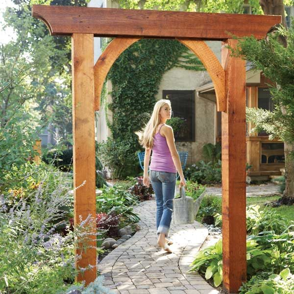Small Garden With Decked Path And Arbour: The Family Handyman