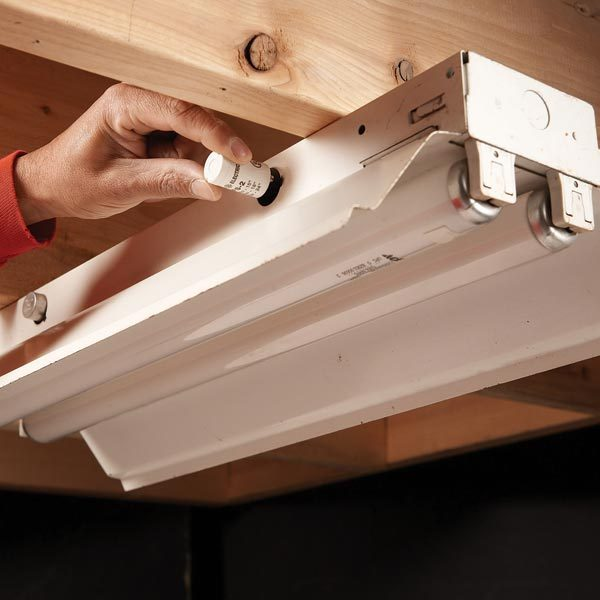 fluorescent light repair the family handyman. Black Bedroom Furniture Sets. Home Design Ideas