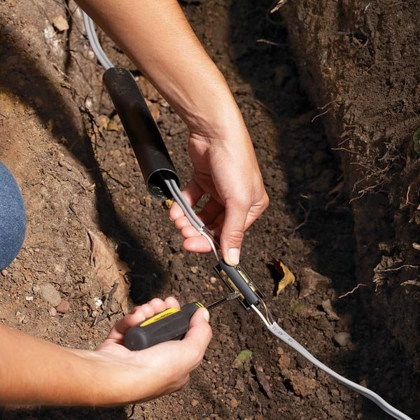 Outside Telephone Cable Repair Kit : Fix underground wiring the family handyman