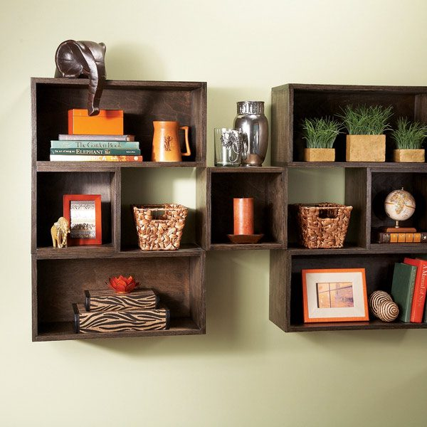 26 simple woodworking projects shelves for Wood craft shelves