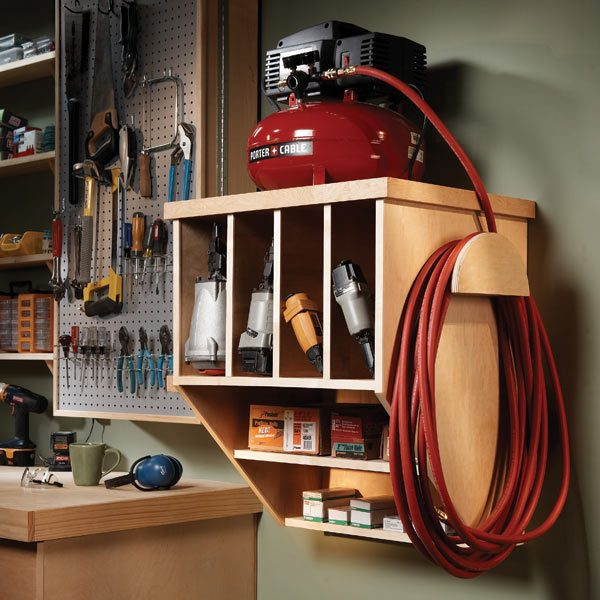Store your nail guns, fasteners, hoses and accessories as well as a ...