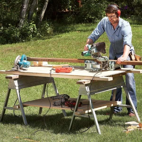 Savvy Sawhorse Table Tips The Family Handyman
