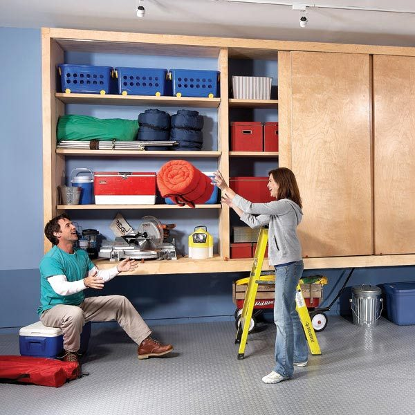Giant diy garage cabinet the family handyman giant diy garage cabinet solutioingenieria Choice Image