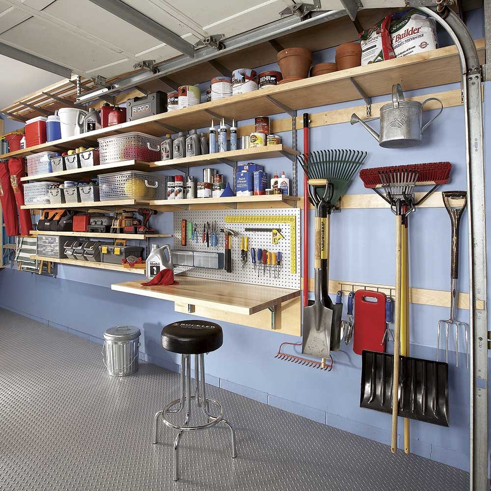 Pdf diy garage hanging wall shelves woodworking plan for Diy wall storage