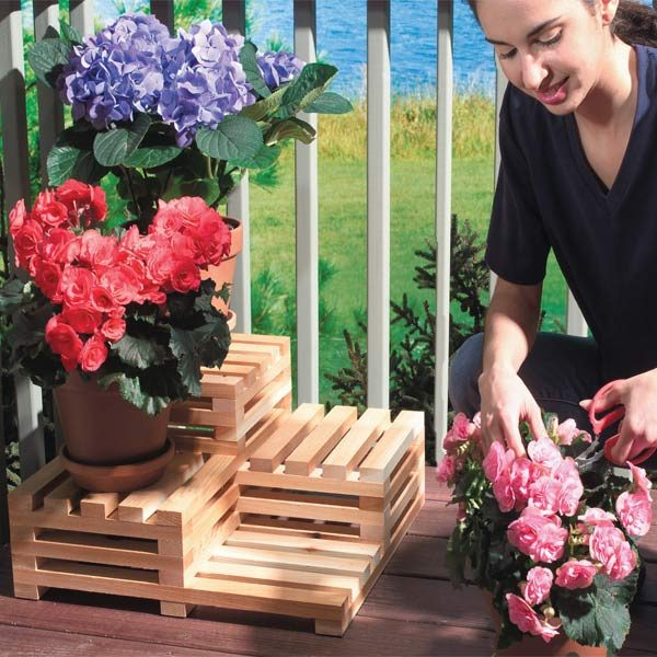 Make Your Own Tiered Plant Stand The Family Handyman