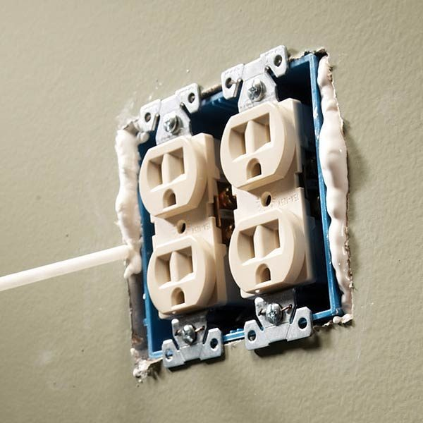 Close Gaps Around Electrical Outlets And Switches The