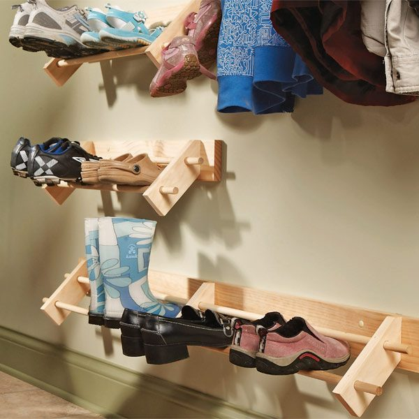 build a shoe organizer the family handyman. Black Bedroom Furniture Sets. Home Design Ideas