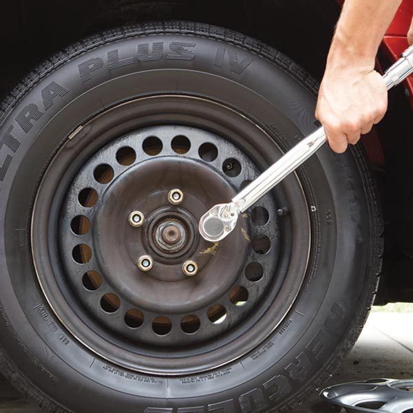 Wrench Is A Necessity For Changing Tire Improperly Torqued Lug Nuts