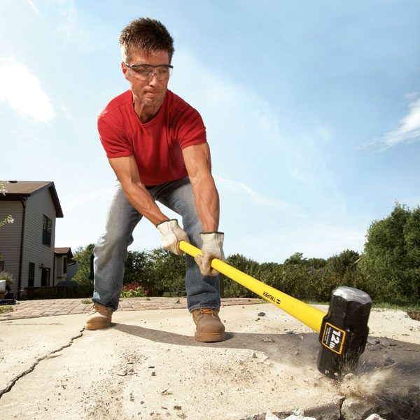 Concrete demolition tools and tips the family handyman for Concrete advice