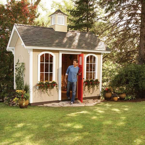 How to build a cheap storage shed the family handyman for Building a storage shed