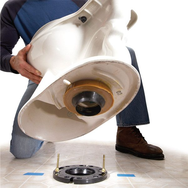 How to replace a toilet the family handyman for Where to buy photography