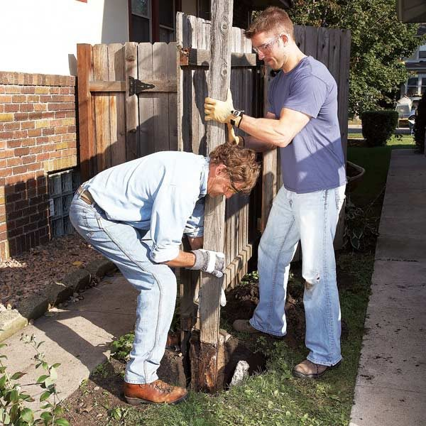 Fence Post Repair The Family Handyman