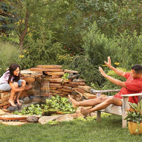 build a backyard waterfall in one weekend the family