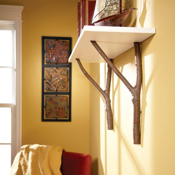 How to Make a Cottage Shelf with Branches - How To Make A Cottage Shelf With Branches The Family Handyman