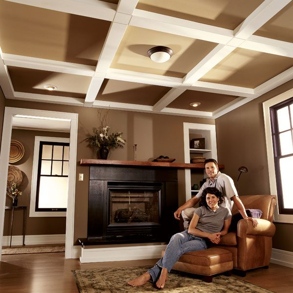 Ceiling panels how to install a beam and panel ceiling - Ceiling designs with beams ...