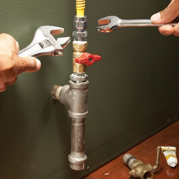 How To Connect Gas Pipe Lines The Family Handyman