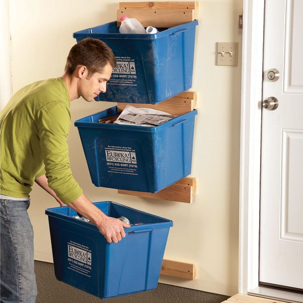 recycle bin ideas garage - Garage Organization Create Recycle Bin Hangers