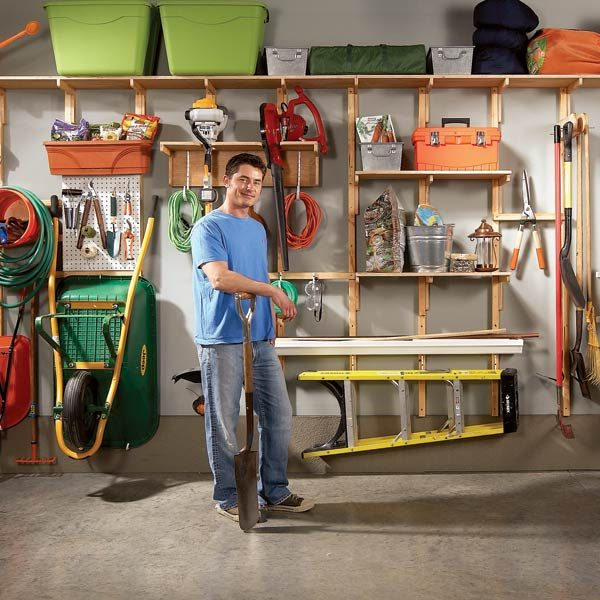 Garage Organization Shelving: Garage Storage Solutions: One-Weekend Wall Of Storage