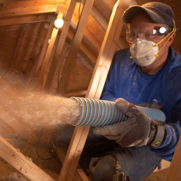 Saving Energy Blown Attic Insulation The Family Handyman