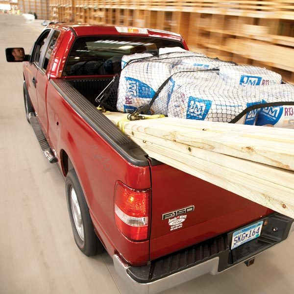Pickup Truck Hauling Lumber 600 x 600