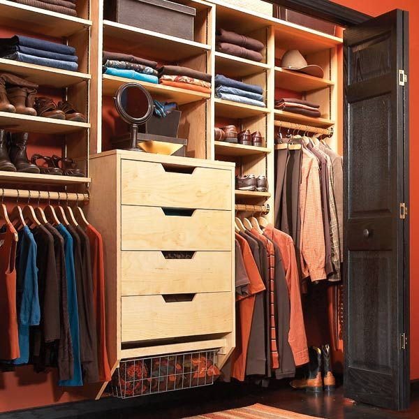 Storage: How to Triple Your Closet Storage Space. Build your own birch  plywood closet organizer ...