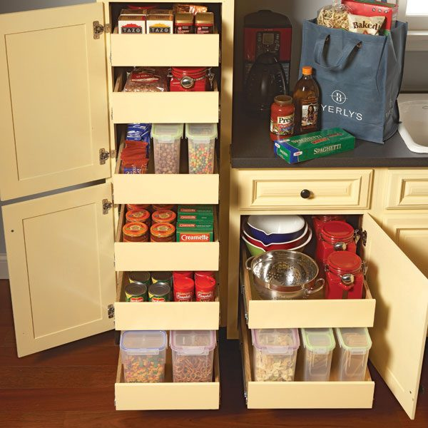 storage ideas for kitchen cupboards kitchen storage cabinet rollouts the family handyman 25964
