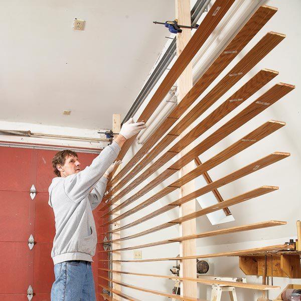 Space Saving Wood Trim Drying Rack The Family Handyman