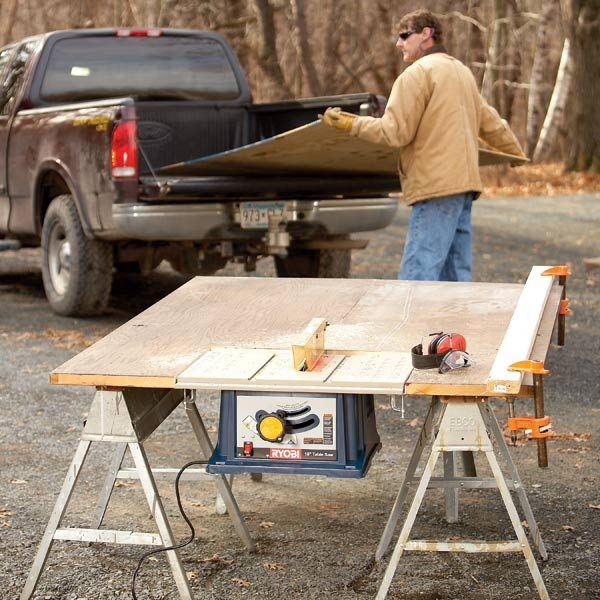 How to Build a Portable Table Saw Table – Construction Site Plan Table