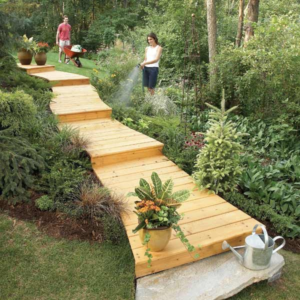 Walkways And Paths: How To Build A Wooden Boardwalk