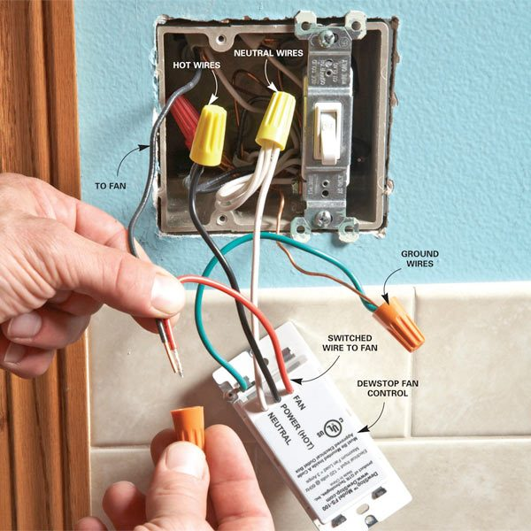 Prevent Mold With The Dewstop Fan Switch The Family Handyman