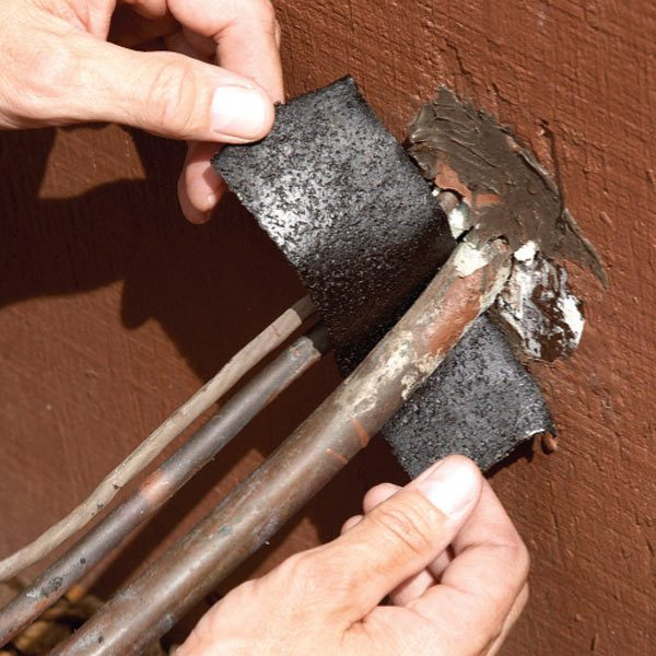 Air Conditioner Repair Replace Rotted Insulation The