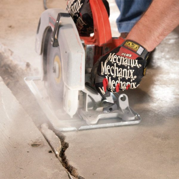 fix the crack in your concrete garage or basement floor yourself by