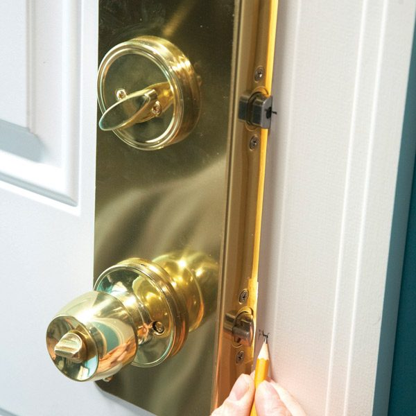 home security how to increase entry door security install reinforcing