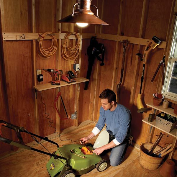 electrical wiring: how to run power anywhere | the family ... wiring diagram for shed
