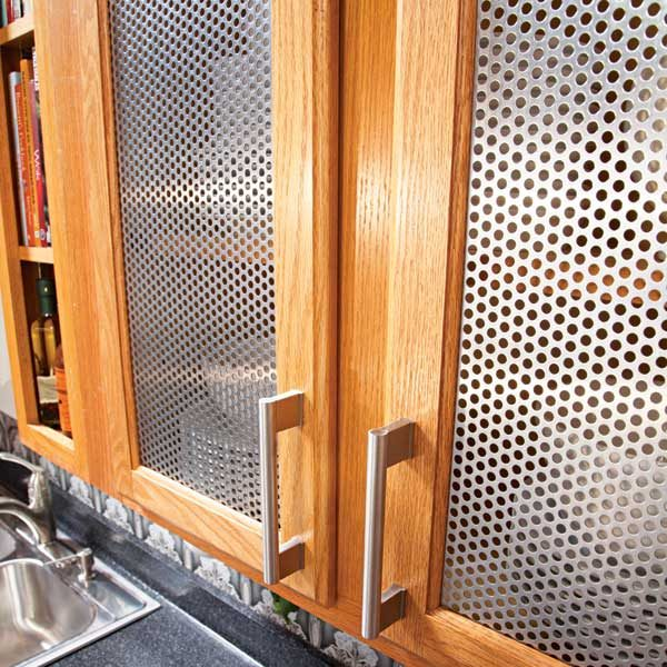 Remodel Your Kitchen Quickly And Easily By Cutting Out Old Wooden Door