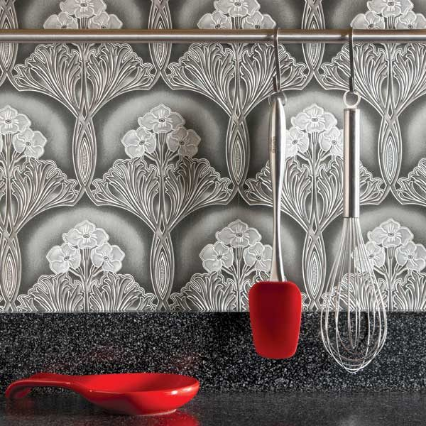 Ideas for the kitchen wallpaper backsplash the family for Kitchen backsplash wallpaper