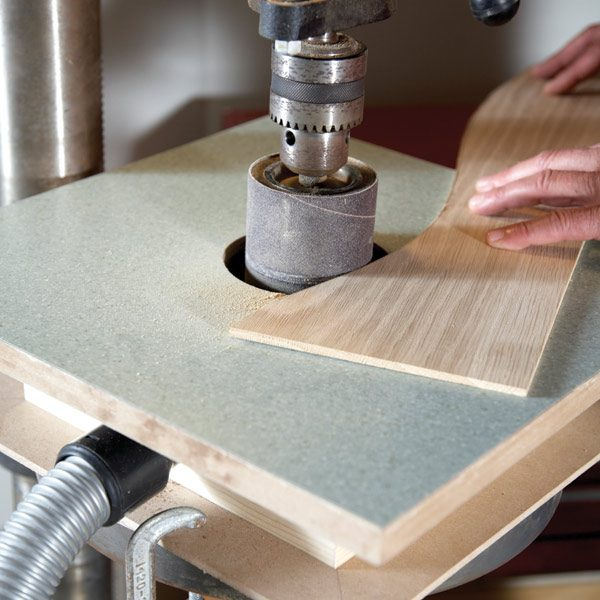 building a drum sander table the family handyman. Black Bedroom Furniture Sets. Home Design Ideas