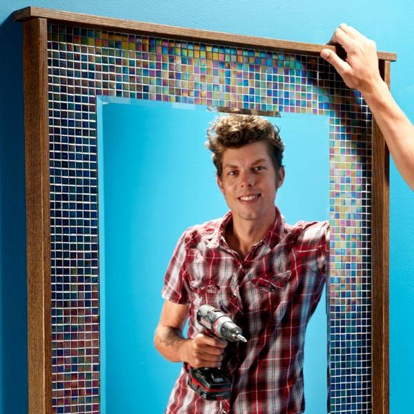 DIY Decorating: Frame Your Mirror With Glass Tile | The Family Handyman