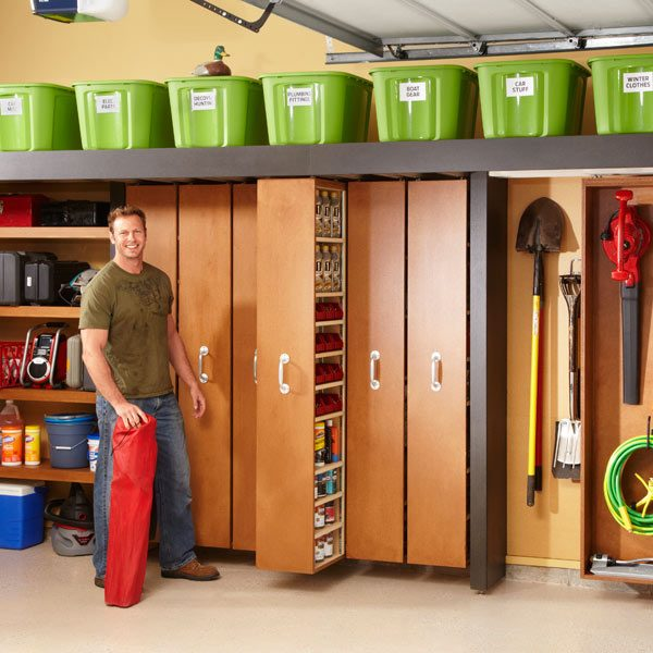 Garage Organization Shelving: Garage Storage: Space-Saving Sliding Shelves