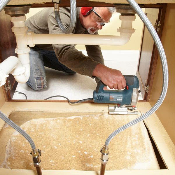 How To Install New Kitchen Cabinets: How To Replace A Sink Base Cabinet Floor