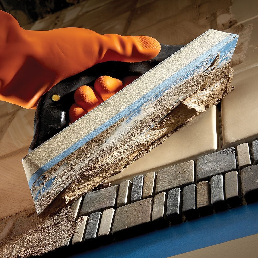 Tips for installing tile the family handyman for How to install tile board in the bathroom