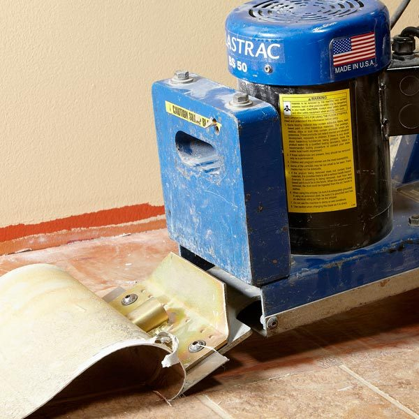 Power Scraper To Quickly And Easily Strip And Remove Vinyl Flooring