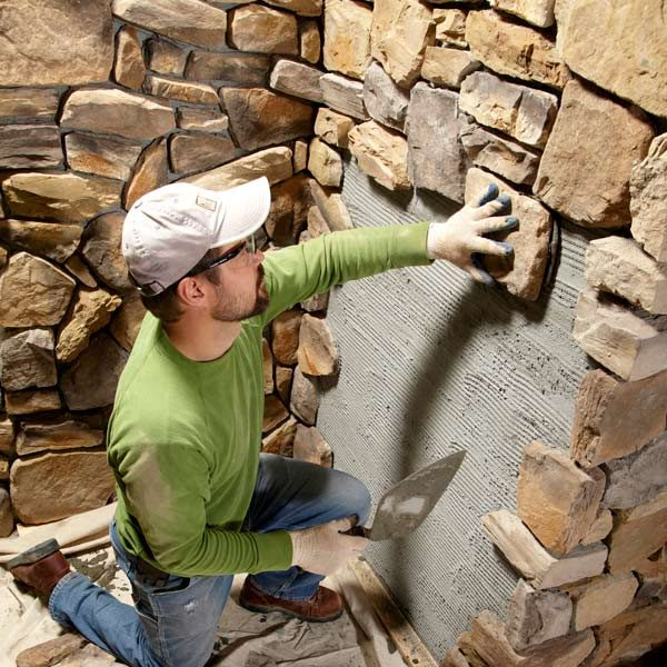 Modern Stone Veneer : Modern stone installation tips the family handyman