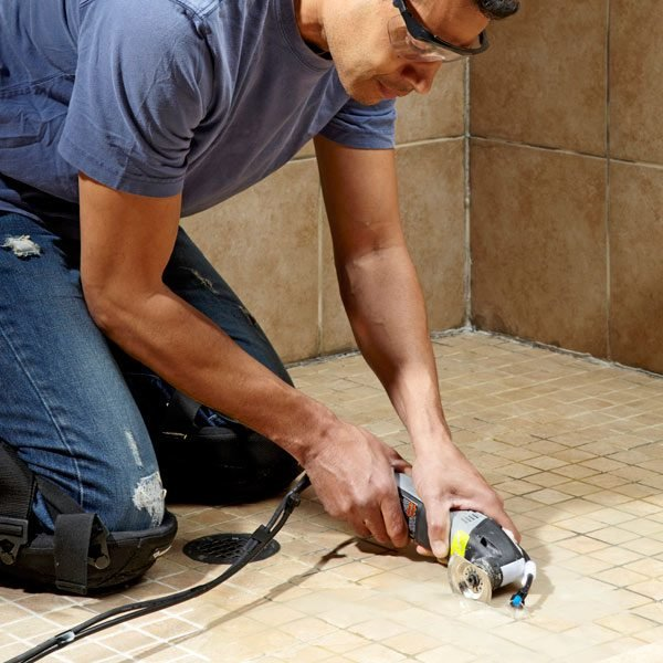 how to remove grout the family handyman. Black Bedroom Furniture Sets. Home Design Ideas