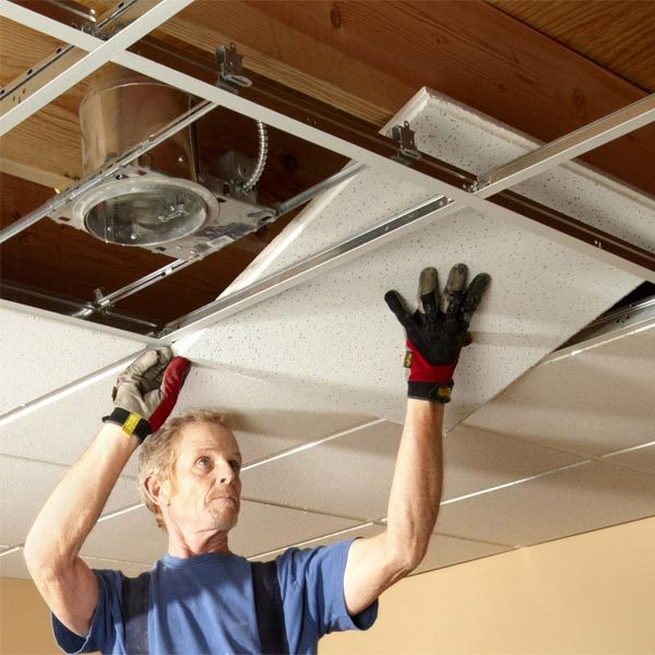 Drop Ceiling Installation Tips The Family Handyman