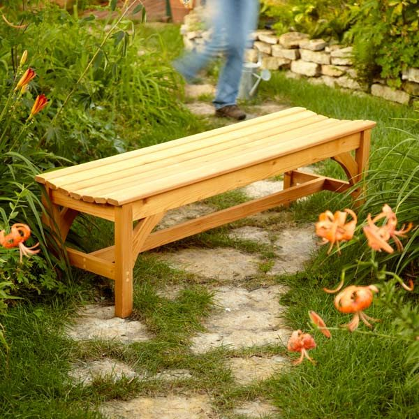 How To Build A Garden Bench The Family Handyman